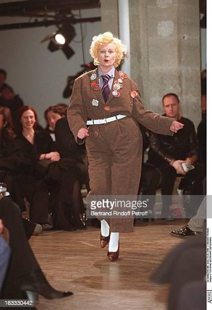 Vivienne Westwood at theYohji Yamamoto Menswear Catwalk Autumn Winter 98/99 Collection.