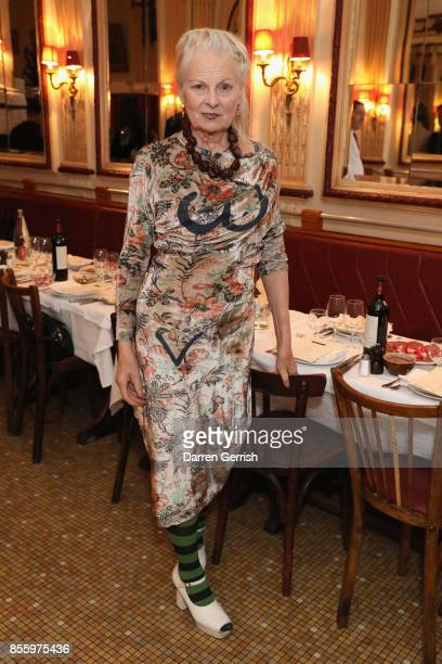 Vivienne Westwood attends a dinner in Paris to celebrate Another Magazine A/W17 hosted by Vivienne Westwood Andreas Kronthaler Jefferson Hack...