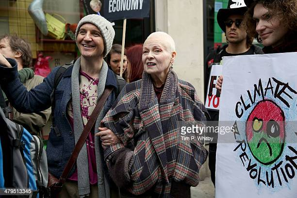 Vivienne Westwood attends a protest march at the Fracked Future Carnival on March 19 2014 in London England