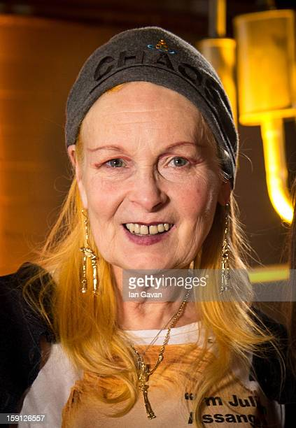 Vivienne Westwood attends her Vivienne Westwood Man presentation at the London Collections MEN AW13 at Harrods on January 8 2013 in London England