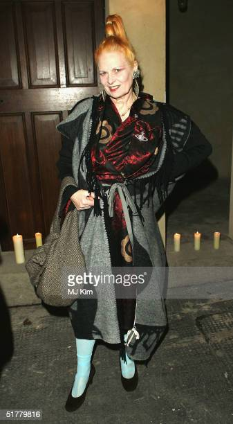 Vivienne Westwood attends party for men's magazine Arena Homme Plus thrown on behalf of Alexander McQueen to celebrate his Mens Designer of the Year...