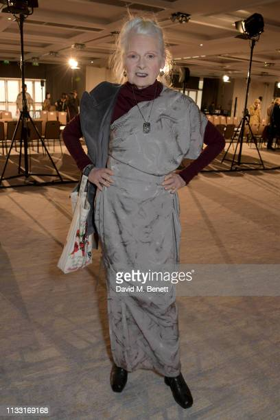 Vivienne Westwood attends the Andreas Kronthaler For Vivienne Westwood show as part of Paris Fashion Week Womenswear Fall/Winter 2019/2020 on March...