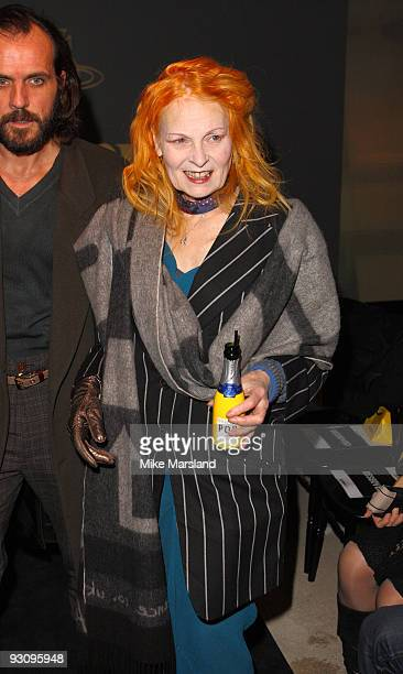 Vivienne Westwood attends the Anglomania show by Vivienne Westwood at Selfridges on November 16 2009 in London England