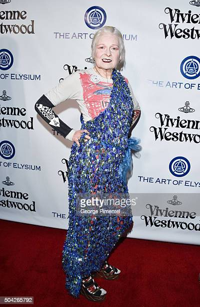 Vivienne Westwood attends the Art of Elysium 2016 HEAVEN Gala presented by Vivienne Westwood Andreas Kronthaler at 3LABS on January 9 2016 in Culver...