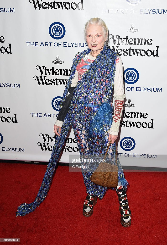 Vivienne Westwood attends the Art of Elysium 2016 HEAVEN Gala presented by Vivienne Westwood & Andreas Kronthaler at 3LABS on January 9, 2016 in Culver City, California.