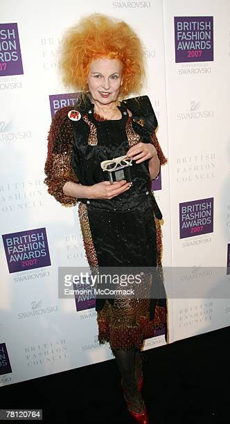 Vivienne Westwood attends the British Fashion Awards at the Royal Horticultural Halls on November 27, 2007 in London, England.