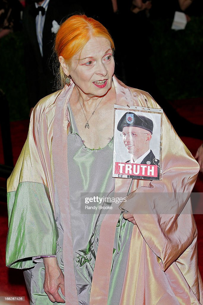 Vivienne Westwood attends the Costume Institute Gala for the 'PUNK: Chaos to Couture' exhibition at the Metropolitan Museum of Art on May 6, 2013 in New York City.