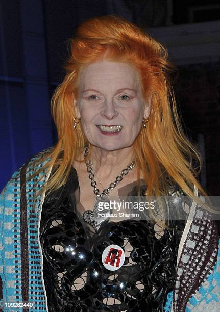 Vivienne Westwood attends the launch of Vivienne Westwood's 'Get a Life' Palladium Jewellery Collection at The Wallace Collection on February 18 2011...