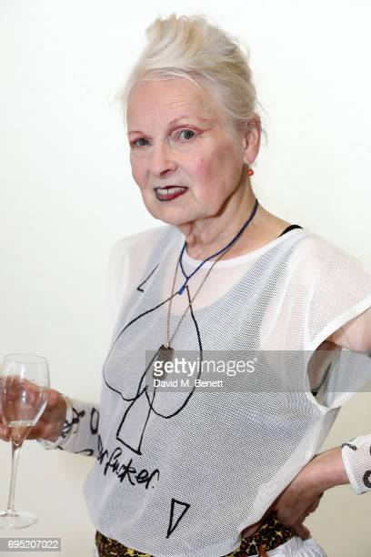 Vivienne Westwood attends the Vivenne Westwood SS18 show during the London Fashion Week Men's June 2017 collections on June 12, 2017 in London,...