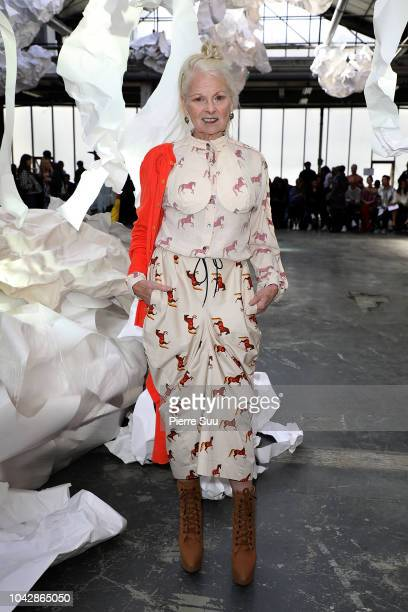 Vivienne Westwood attends the Vivienne Westwood show as part of the Paris Fashion Week Womenswear Spring/Summer 2019 on September 29, 2018 in Paris,...