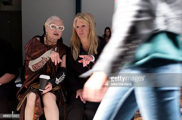 Vivienne Westwood attends the Vivienne Westwood show during London Fashion Week Spring/Summer 2016/17 on September 20 2015 in London England
