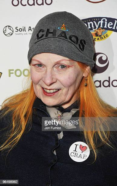 Vivienne Westwood attends VIP Screening of the Oscar nominated 'Food Inc' at The Curzon Mayfair on February 8, 2010 in London, England.