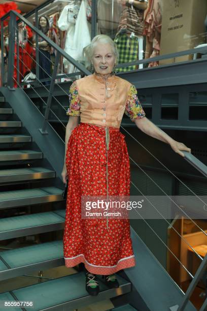 Vivienne Westwood backstage ahead of the Vivienne Westwood show as part of the Paris Fashion Week Womenswear Spring/Summer 2018 on September 30 2017...
