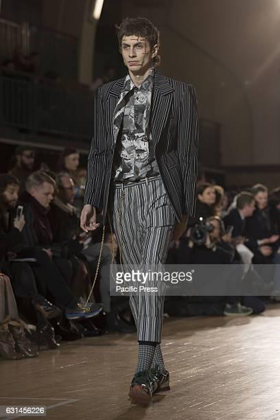 Vivienne Westwood's runway at LFW Men's January 2017 A model walks the runway at the Vivienne Westwood show during London Fashion Week Men's...