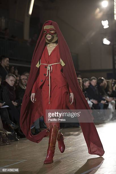 Vivienne Westwood's runway at LFW Men's January 2017 A model walks the runway at the Vivienne Westwood show during London Fashion Week Men's...
