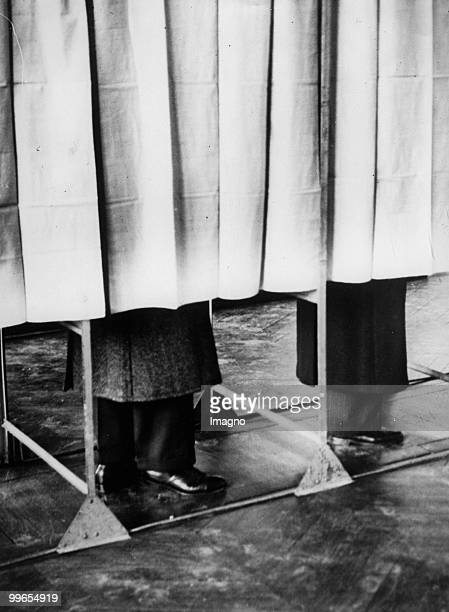 A viw on the Voting Booths in France Versailles Photograph October 10th 1937 Photo by Austrian Archives /Imagno/Getty Images
