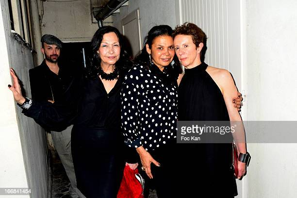 Vix Foster Tharita de Oliveira and Victoria Fernandez attend 'Les Racines De La Ville' Aramy Machry' s Photo Exhibition Preview At 'Le Plac Art'...