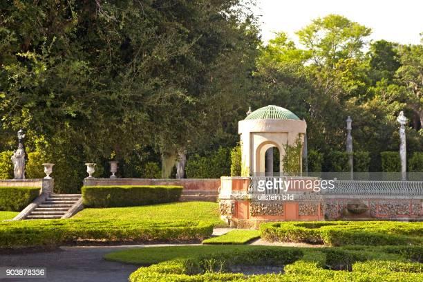 VizcayaSchloss mit Parkanlage RenaissanceVilla in Miami AMERIKA USA FLORIDA Miami 102010
