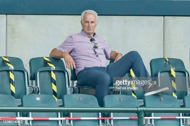 Vizce-President Rainer Bonhof of Borussia Moenchengladbach looks on during the pre-season friendly match between Borussia Monechengladbach and SC...