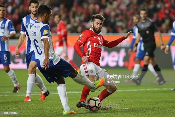 Vizelas defender Elizio from Brazil and Benficas forward Rafa Silva from Portugal during the Portuguese Cup 2016/17 match between SL Benfica v FC...