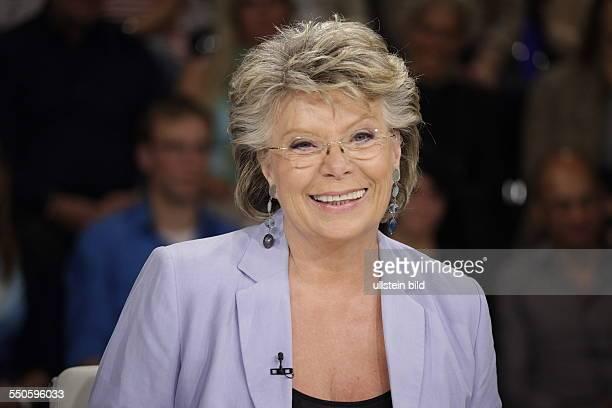 Vizepräsidentin der Europäischen Kommission Viviane Reding Berlin ZDF PolitTalk Maybrit Illner