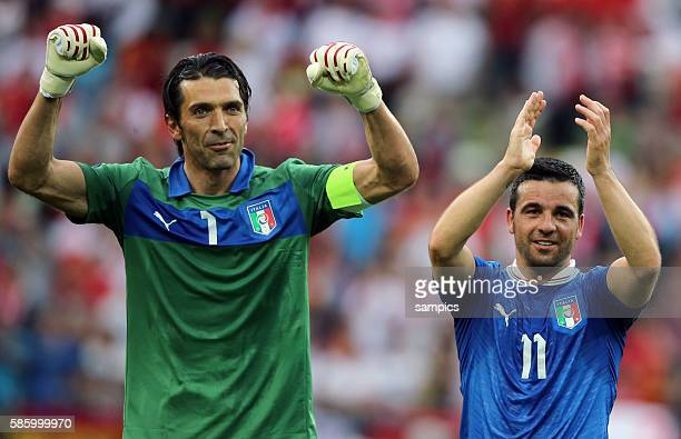 Gianluigi Buffon Antonio Di Natale Fussball EM 2012 Spanien Italien UEFA EURO 2012 Group C Spain vs Italy 10612