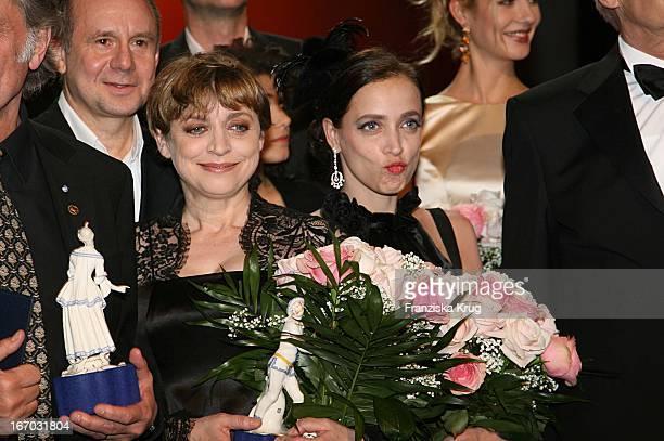 Joachim Krol, Katharina Thalbach Und Tochter Anna Thalbach Nach Der Verleihung Des Bayerischen Filmpres Im Prinzregententheater In München .