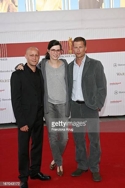 """Vl. Jürgen Vogel; Nora Tschirner Und Til Schweiger Bei Der Ankunft Zum Deutschen Filmpreis 2007 """"Lola"""" In Berlin ."""