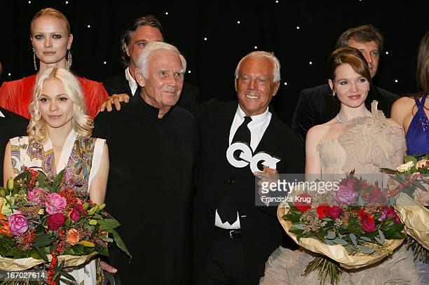 Mavie Hörbiger Joachim Fuchsberger Preisträger Giorgio Armain Und Karoline Herfurth Bei Der Verleihung Gq Männer Des Jahres Im Prinzregententheater...