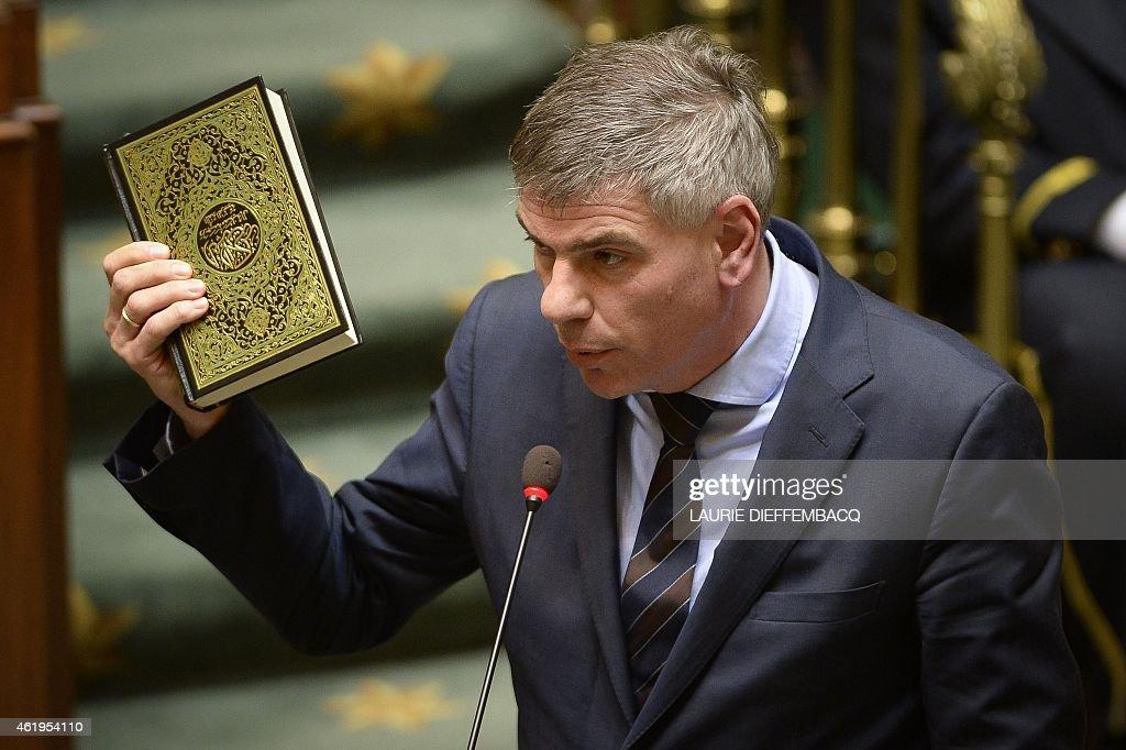 BELGIUM-POLITICS-PARLIAMENT : News Photo