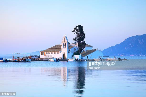 Vlacherna Monastery, Kanoni, Corfu, The Ionian Islands, Greek Islands, Greece, Europe