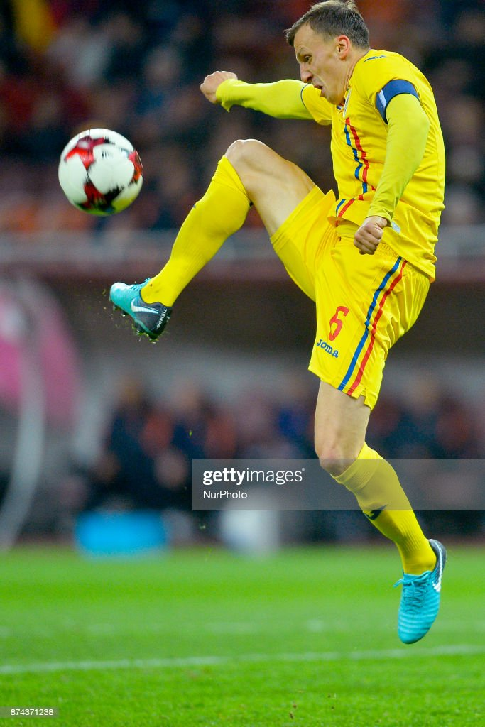 Vlad Chiriches (Rom) during the International Friendly match between Romania and Netherlands at National Arena Stadium in Bucharest, Romania, on 14 november 2017.