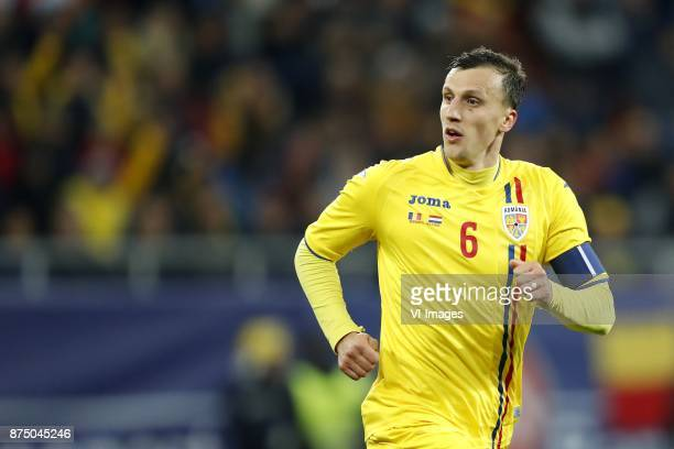 Vlad Chiriches of Romania during the friendly match between Romania and The Netherlands on November 14 2017 at Arena National in Bucharest Romania