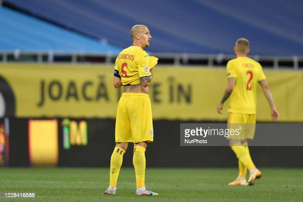 Vlad Chiriches of Romania during UEFA Nations League 2021 match between Romania and Northern Ireland at Arena Nationala, in Bucharest, Romania, on 4...