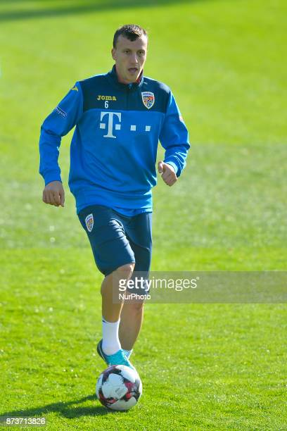 Vlad Chiriches of Romania Football Team during a training session at Mogosoaia Romania on 13 November 2017