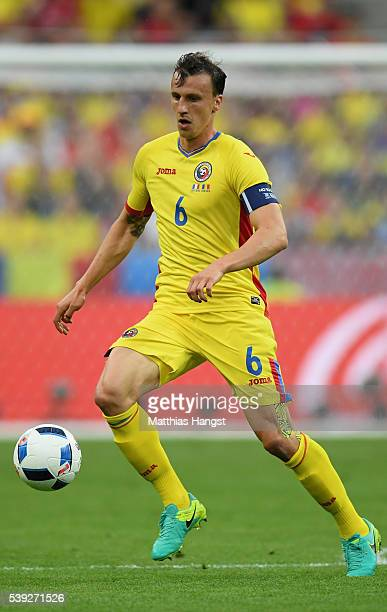 Vlad Chiriches of Romania in action during the UEFA Euro 2016 Group A match between France and Romania at Stade de France on June 10 2016 in Paris...