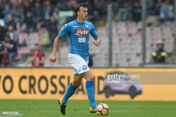 Vlad Chiriches of SSC Napoli during the Serie A TIM match between SSC Napoli and US Sassuolo at Stadio San Paolo Naples Italy on 29 October 2017