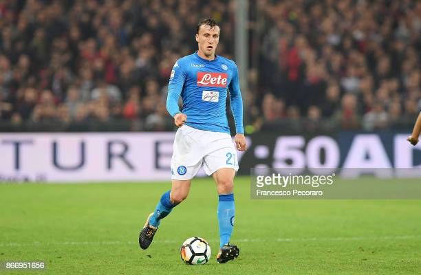 Vlad Chiriches of SSC Napoli in action during the Serie A match between Genoa CFC and SSC Napoli at Stadio Luigi Ferraris on October 25 2017 in Genoa...