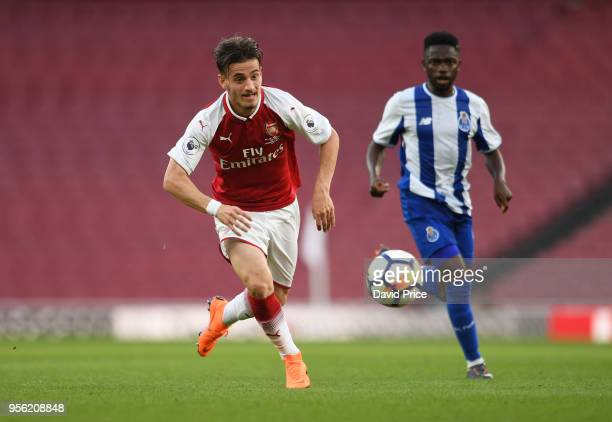 Vlad Dragomir of Arsenal during the match between Arsenal and FC Porto at Emirates Stadium on May 8 2018 in London England