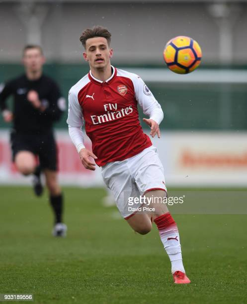 Vlad Dragomir of Arsenal during the match between Arsenal U23 and Chelsea U23 at London Colney on March 17 2018 in St Albans England
