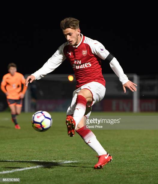 Vlad Dragomir of Arsenal during the Premier League International Cup match between Arsenal and Reading at Meadow Park on November 30 2017 in...