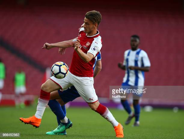 Vlad Dragomir of Arsenal U23s during Premier League International Cup Final match between Arsenal Under 23 against Porto FC at Emirates stadium...