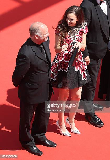 Vlad Ivanov and Ingrid Bisu attend the Toni Erdmann premiere during the 69th Annual Cannes Film Festival at the Palais des Festivals on May 14 2016...