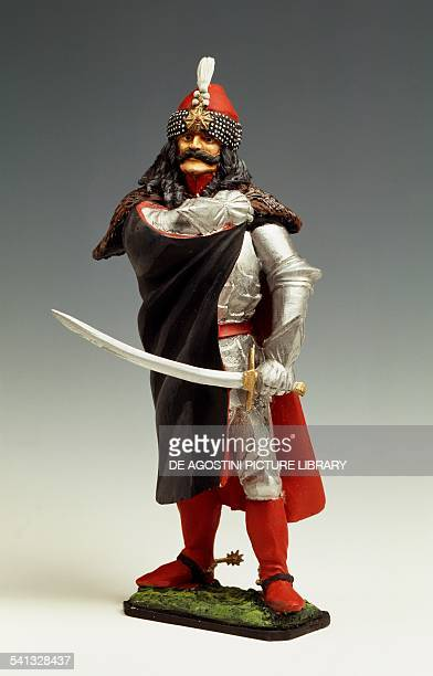 Vlad the Impaler also known as Dracula with armour and sword toy soldier Romania mid 15th century