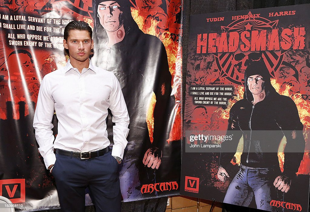 Vlad Yudin attends The Vladar Company And Arcana Comics Present The 1st Edition Of HEADSMASH at Jacob Javitz Center on October 11, 2012 in New York City.