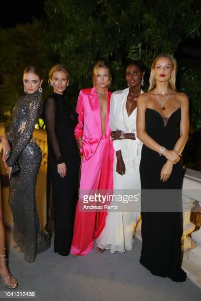 Vlada Rosljakova, Charlott Cordes, Toni Garrn, Ubah Hassan and Michaela Kocianova attend the Gala for the Global Ocean hosted by H.S.H. Prince Albert...