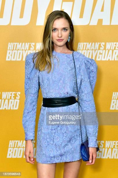 "Vlada Roslyakova attends the ""Hitman's Wife's Bodyguard"" special screening at Crosby Street Hotel on June 14, 2021 in New York City."