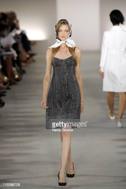 Vlada Roslyakova wearing Derek Lam Spring 2006 during Olympus Fashion Week Spring 2006 Derek Lam Runway at Milk Studios in New York City New York...