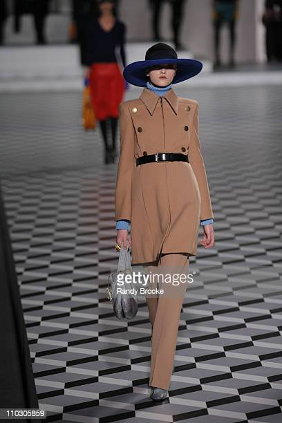 Vlada Roslyakova wearing Marc Jacobs Fall 2007 during MercedesBenz Fashion Week Fall 2007 Marc Jacobs Runway at NY State Armory in New York City New...