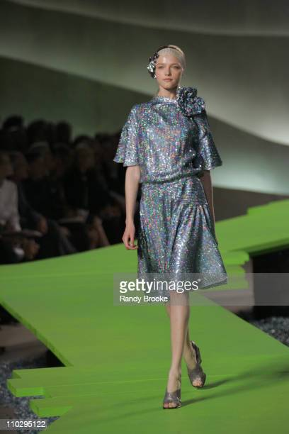 Vlada Roslyakova wearing Marc Jacobs Spring 2007 during Olympus Fashion Week Spring 2007 Marc Jacobs Runway at New York State Armory in New York City...